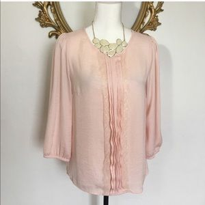 Forever 21 Blush/Soft Pink Blouse Size M